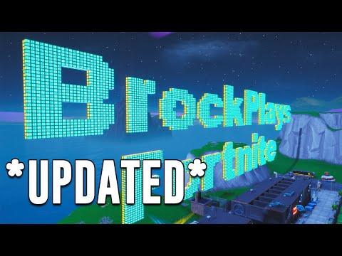 How To Make Letters In Creative Mode Season X *UPDATED* | BrockPlaysFortnite