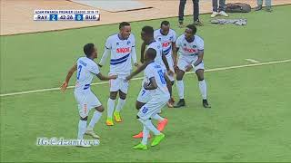 Rayon Sports FC players do the Malwedhe Challenge following their 3-0 win over Bugesera.