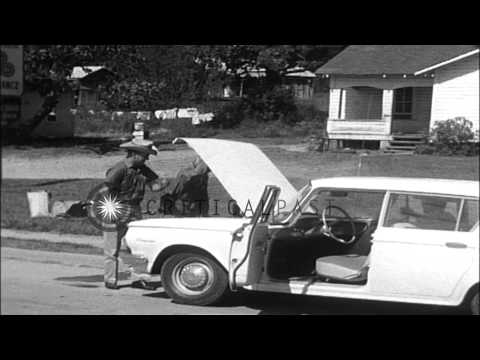 Campus of Mississippi University during Mississippi riots. HD Stock Footage