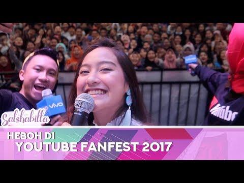 HEBOH DI YOUTUBE FANFEST 2017!! | SALSHABILLA #VLOG (with Dellos)