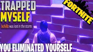 Trapped Myself :( - Fortnite Battle Royale