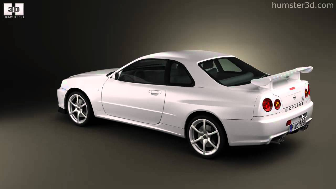 Nissan skyline r34 gt r coupe 1999 by 3d model store humster3d com youtube
