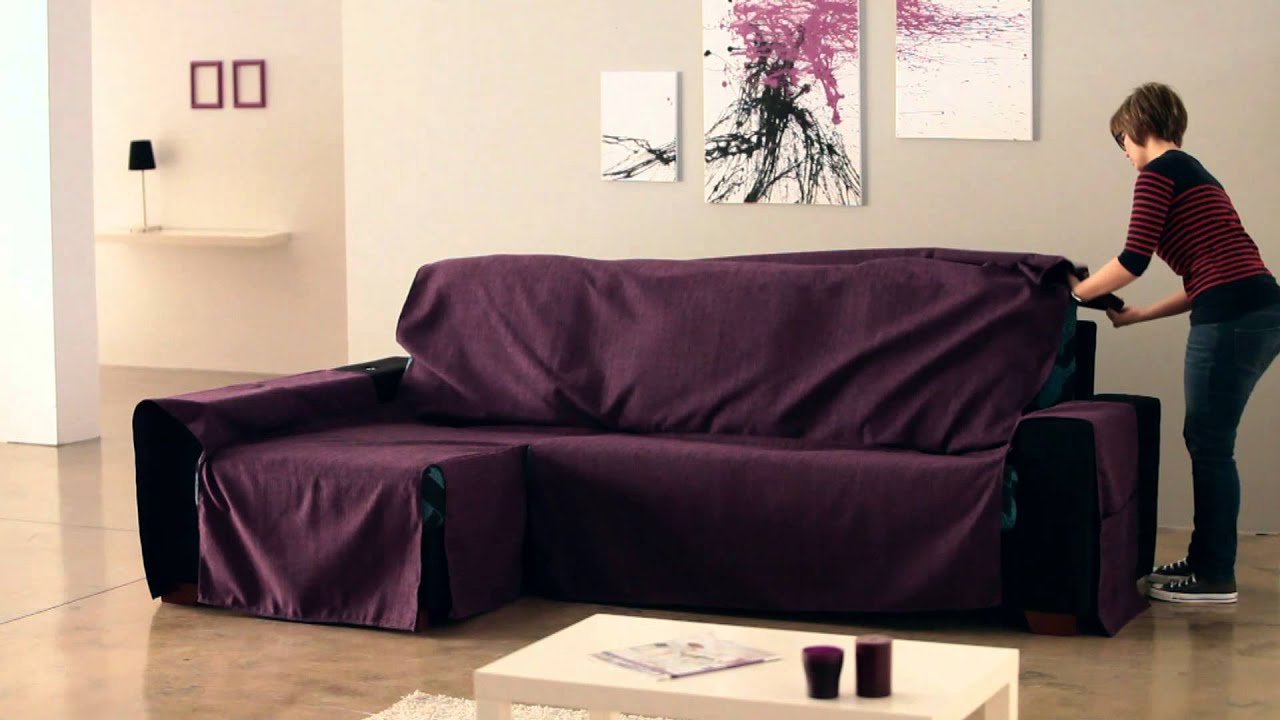 Sessel Selbst Beziehen How To Put An Universal Chaise Sofa Covers - Youtube