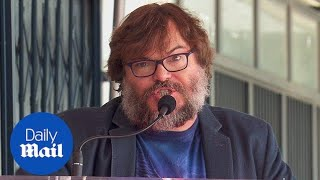 Jack Black gets a star on the Walk of Fame and gives speech