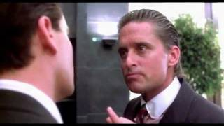 Slicked Back Hair - Michael Douglas