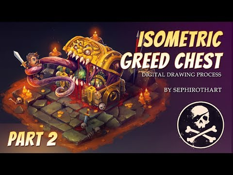 Isometric Greed Chest PART2. Drawing Process from Twitch Stream Channel | by Sephiroth Art