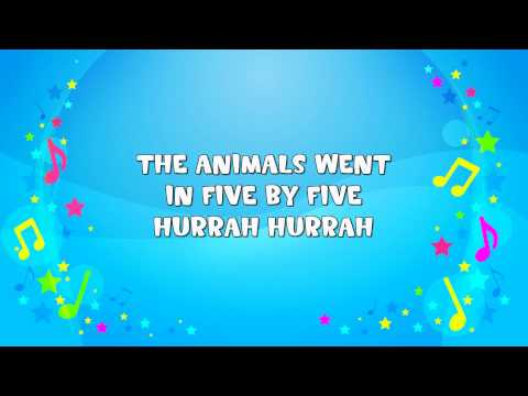 The Animals Went In Two By Two | Sing A Long | Counting Song