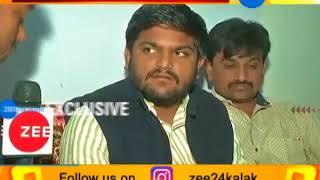 Hardik Patel talk with media after casting his vote   in Viramgam #GujaratElection2017