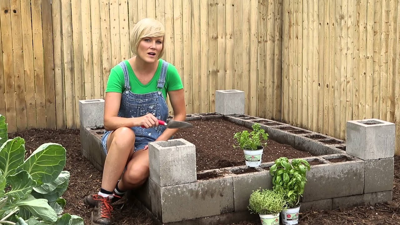 Cement Block Raised Bed - Bur Garden Projects - YouTube on cement compost bins, cement raised flower beds, cement walkways, cement garden edging, raised planter beds, cement bird baths, cement decks, cement stepping stones, cement planter beds, cement block garden, cement garden planters, cement block raised beds, cement fencing,