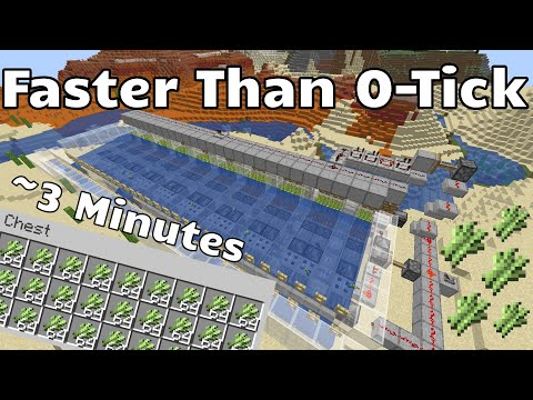 Faster Than Zero Tick - Sugar Cane Farm - Minecraft Java 1.15