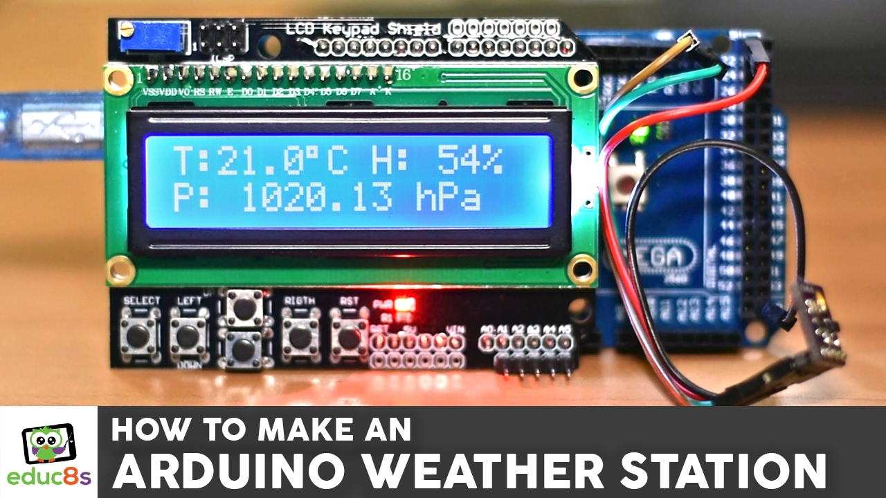 maxresdefault arduino project weather station with a bme280 sensor and an lcd Arduino Uno Wiring-Diagram at panicattacktreatment.co