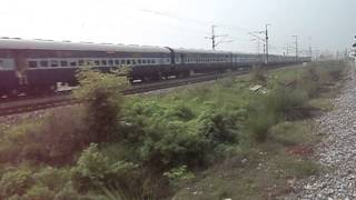 18238 Amritsar-Bilaspur Chhattisgarh Express crossing us at Rundhi Outer