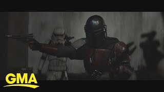 Get an exclusive look at new clip from 'The Mandalorian' | GMA