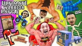 ULTIMATE WARRIOR CHALLENGE!  Duddy vs. Uncle Crusher! Turbo Dismount, Sumotori, Street Fighter + Mo'
