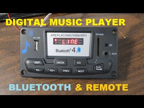 Digital music player with bluetooth & FM radio - test and review