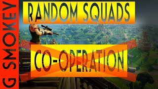 FORTNITE - When your team does NOT get along | Random Squad Highlights G Smokey