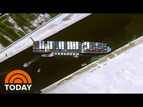 Cargo Ship Blocking Suez Canal: Massive Efforts Underway To Free It | TODAY