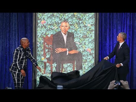 "Obama portrait ""Bringing it down a touch"""