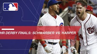 Schwarber faces off against Harper in HR Derby Finals