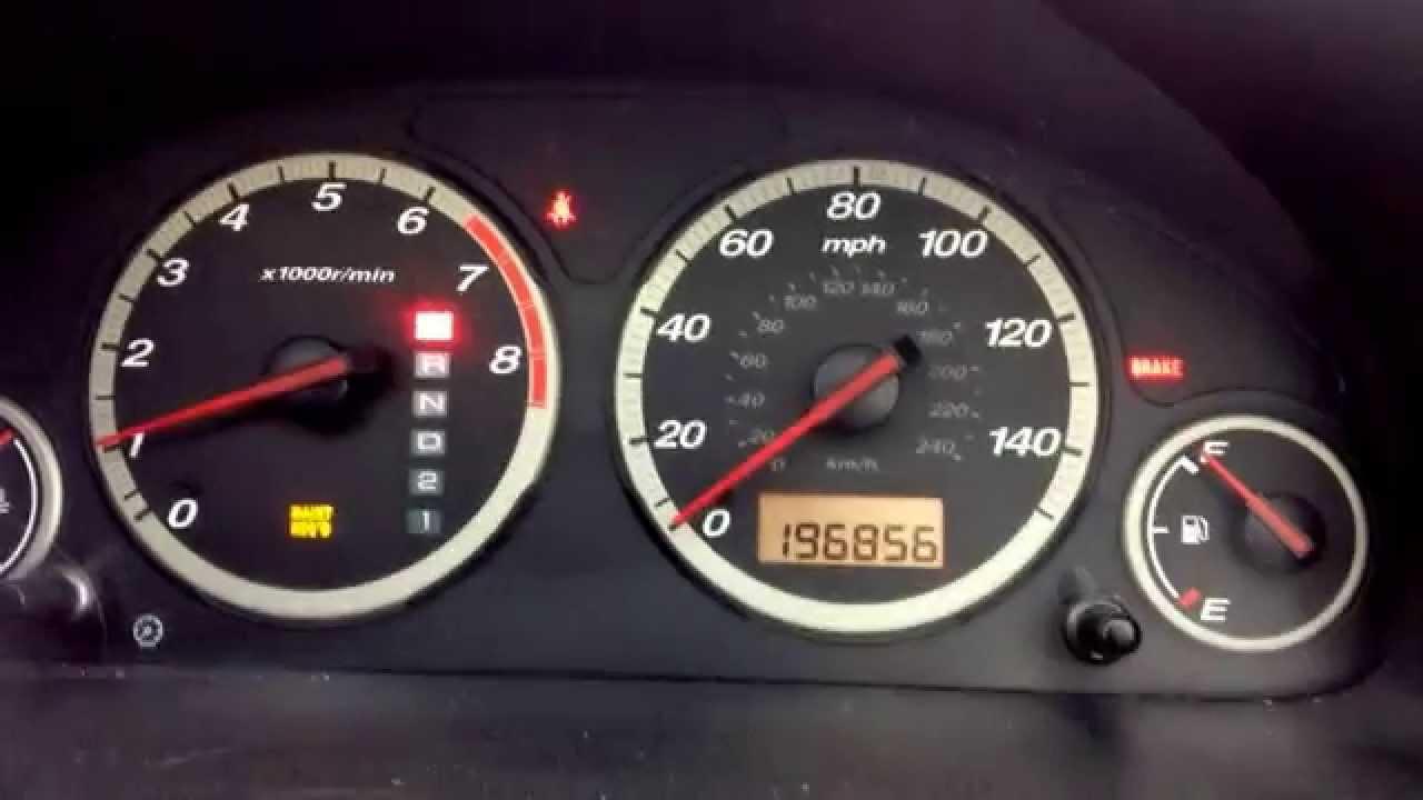 Reset check engine light honda crv 2003 for Honda check engine light