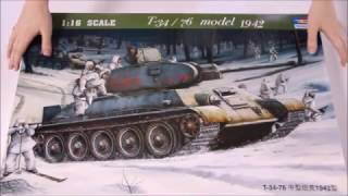 Обзор модели танка Т-34/76 model 1942 (1:16)