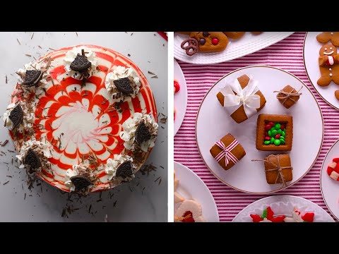 Get Your Holiday Bake On With This Amazing Red Velvet Cheesecake!!! | Easy Dessert Ideas by So Yummy