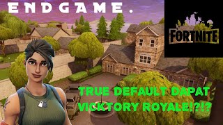 True Default Skin dpt VICTORY ROYALE?!?! // Fortnite Malaysia 😱😱