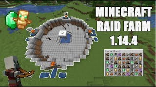 Minecraft Easy RAID FARM 1.14.4 lots of loot!