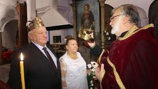Църковен брак след 45 години съвместен живот сключиха в събота  двама влюбени добричлии