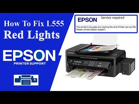 Epson L555 Resetter - How to Reset Printer waste Ink Pad - YouTube