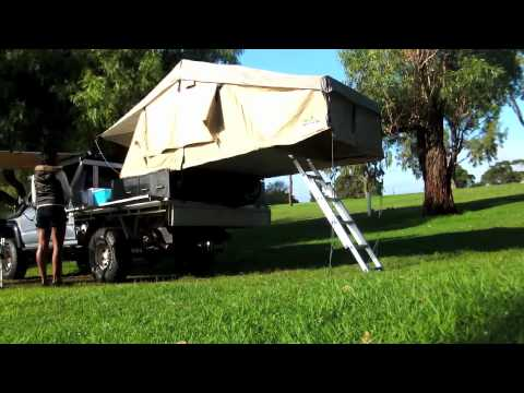Ironman Rooftop Tent Amp Awning Set Up Youtube