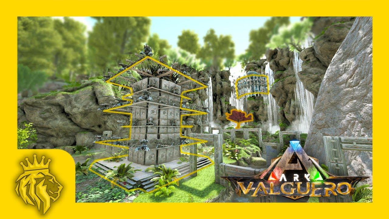 Valguero Blossom Cave Full Pvp Base Design 10 Man Ark Survival Evolved Youtube