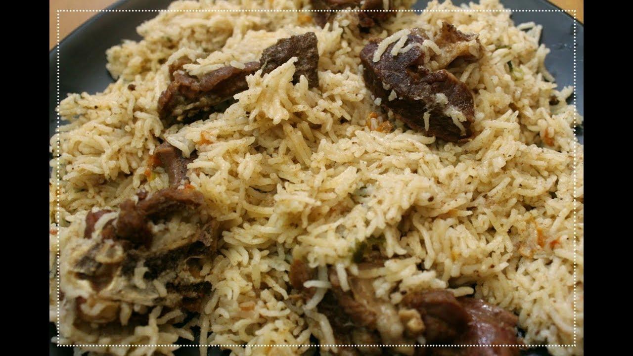 Pressure Cooker Mutton Biryani Using Basmati Rice South Indian