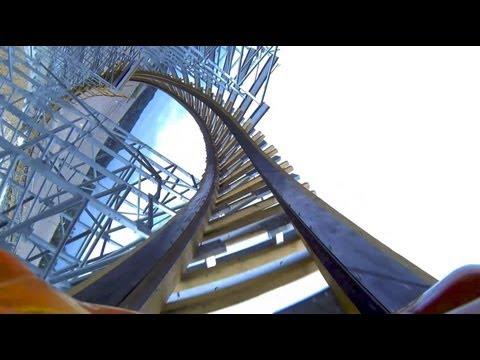 Hades 360 Looping Wooden Roller Coaster POV Mt Olympus Wisconsin Dells