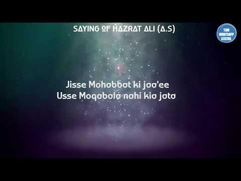 Beautiful saying of hazrat Ali | Hazrath Ali Quotes | islamic whatsapp status | Yam Islamic Channel