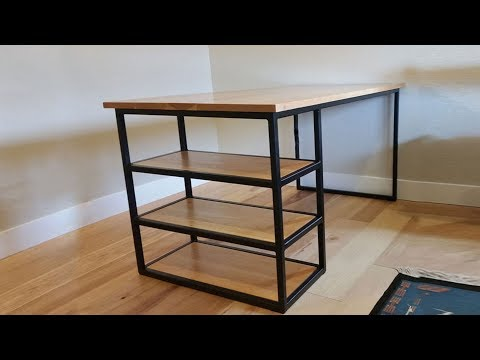 building a Industrial Modern Steel Desk with a Cherry Top