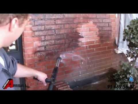 Limpiar graffitis en fachadas de ladrillo youtube - Como limpiar grafitis ...
