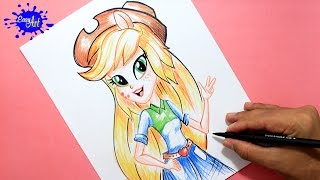 Como dibujar a Applejack My little pony/ how to draw applejack My little pony