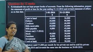 I PUC | ACCOUNTANCY | ACCOUNTS FROM INCOMPLETE RECORDS - 02