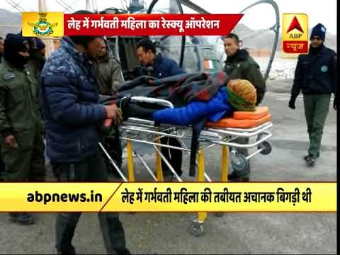 Leh: IAF jawans airlift pregnant woman for treatment amid heavy snow