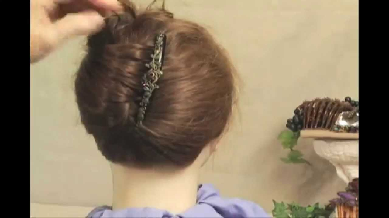 How To Updo Using A Hair Comb And A French Twist Hairstyle Youtube
