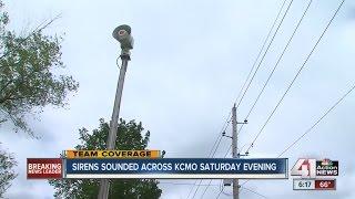 sirens sound across kcmo saturday evening