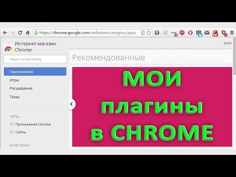 Плагины, которые я использую в Google Chrome
