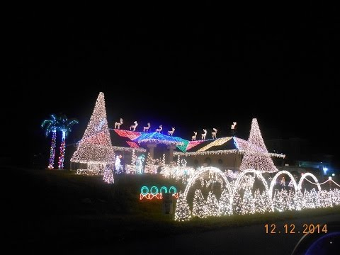 cape coral christmas house lights set to music 2015 best show ever brock bush - How To Set Christmas Lights To Music