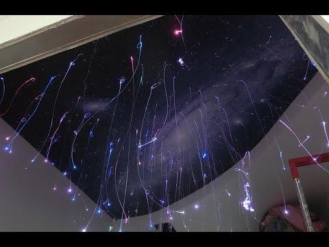 Натяжной потолок звёздное небо с фотопечатью