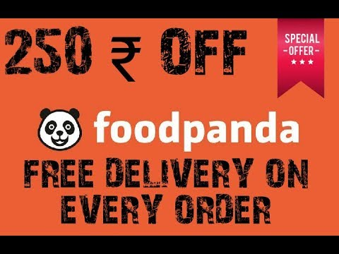 FOOD PANDA 2018 COUPON ALL USERS 250 RS OFF AND FREE DELIVERY ON YOUR NEXT 4 ORDERS CHECK IT OUT NOW
