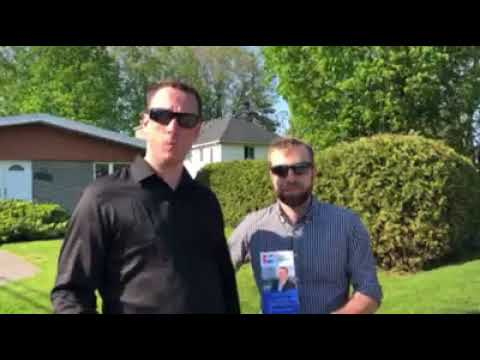 Helping out our local Ontario PC Party candidate Jeremy Roberts