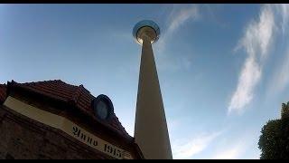 Rheinturm Fernsehturm TOP 180 Düsseldorf Medien-Hafen größte digitale Uhr der Welt