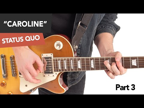 Status Quo - Caroline Guitar Lesson Tutorial #3 Lead Part