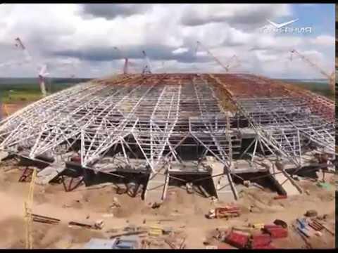 """На стадионе """"Самара Арена"""" заканчивают монтаж основных металлоконструкций"""